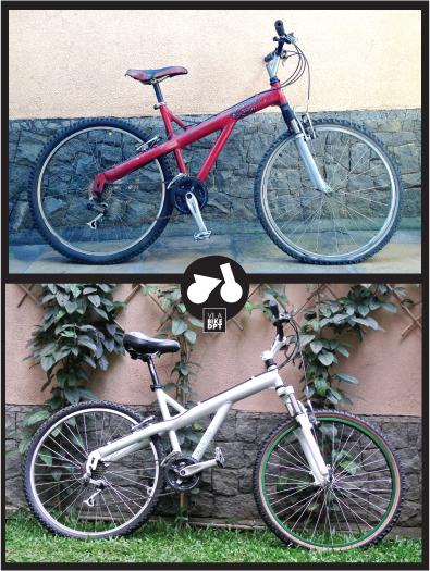 Caloi T-Type, antes e depois da reforma.