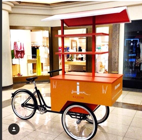 Triciclo customizado para evento no Shopping Iguatemi / iSummer por Studio Vila Bicicletas e Easy Truck